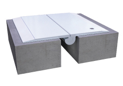 Rendering of a cover plate expansion joint floor system
