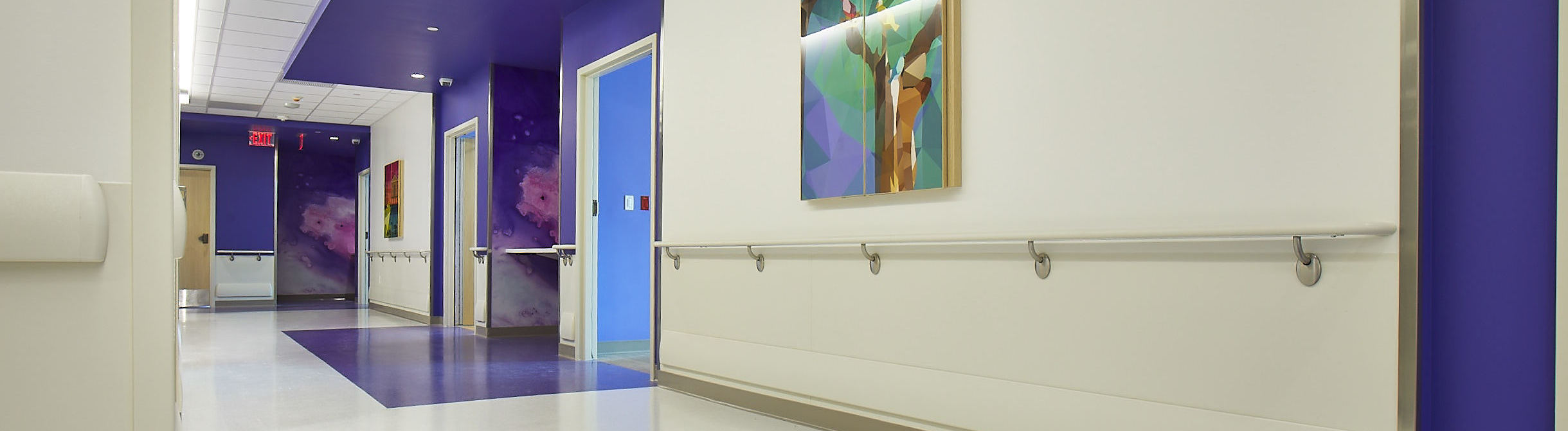 SureContact Handrail installed in a hospital