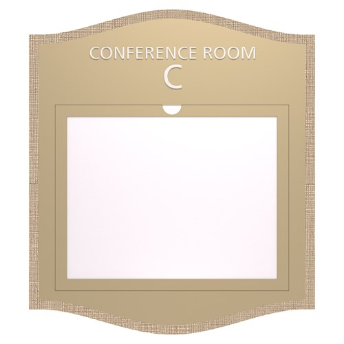 Conference room informational sign with open window in Savannah Standard Sign Design
