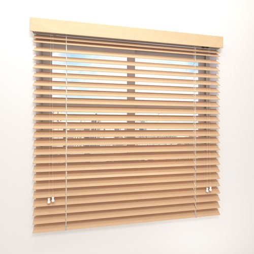 Commercial use faux wood horizontal blinds