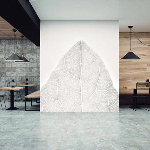 Aspex printed wall art of a leaf in a restaurant