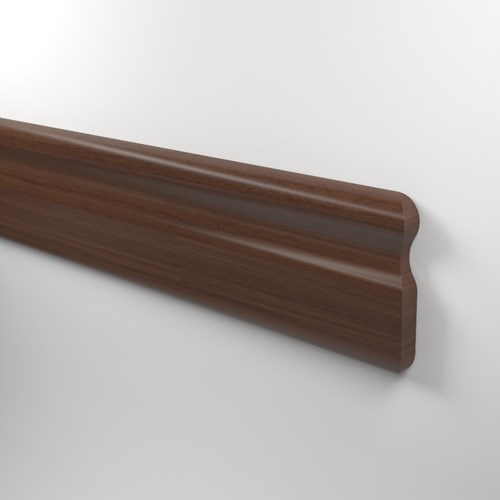 CR12 hardwood chair rail in coffee stain