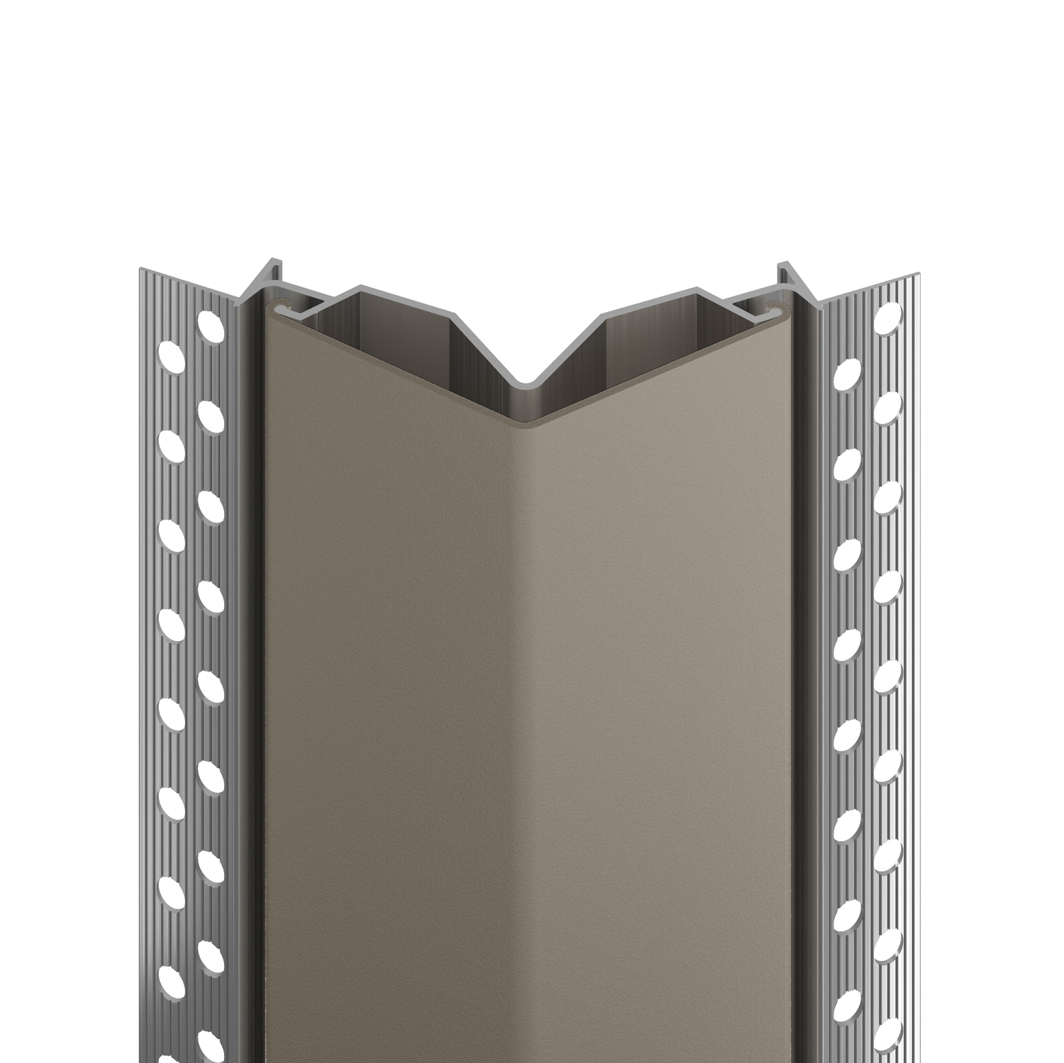 130F flush mount corner guard in shiprock gray