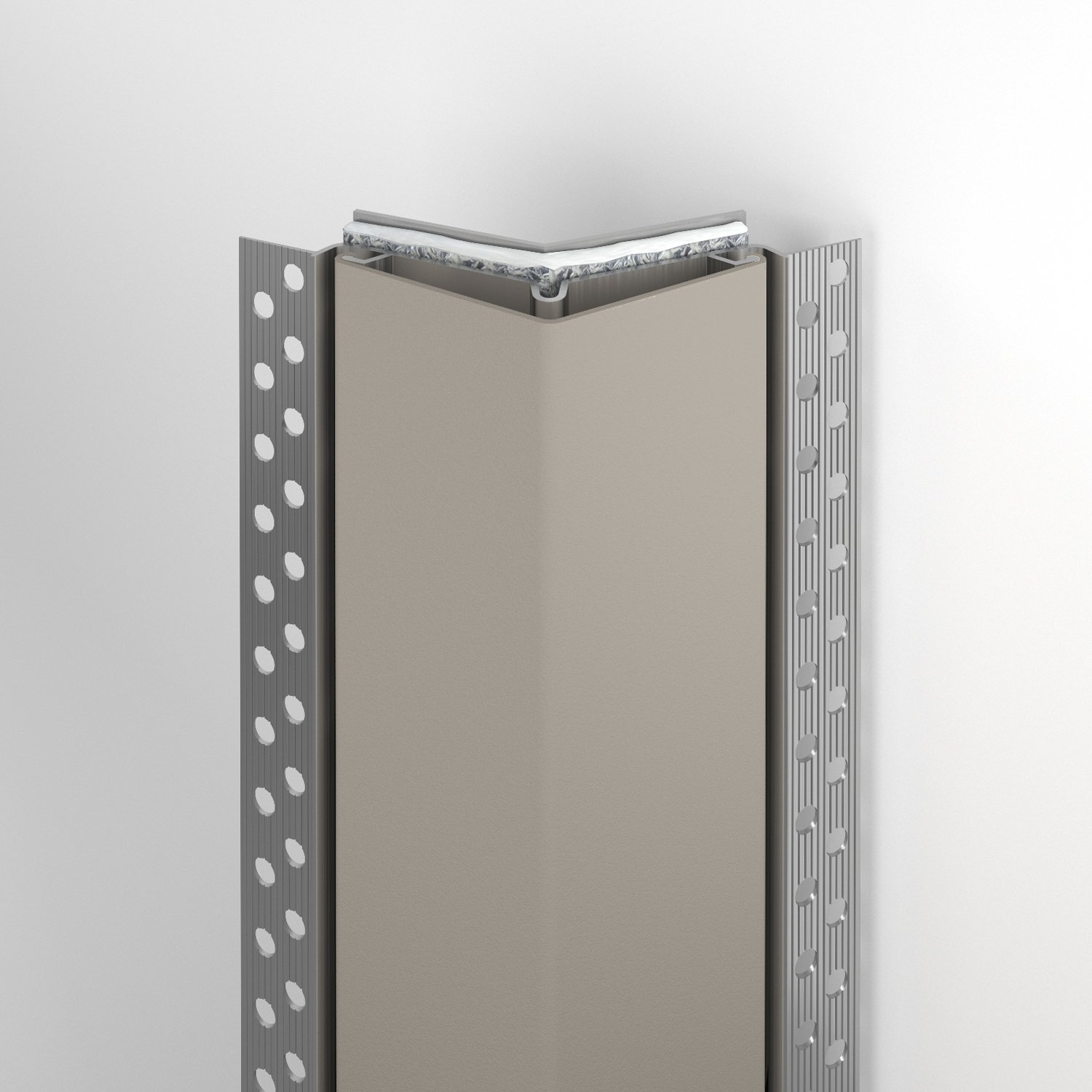 130FR fire rated corner guard in shiprock gray
