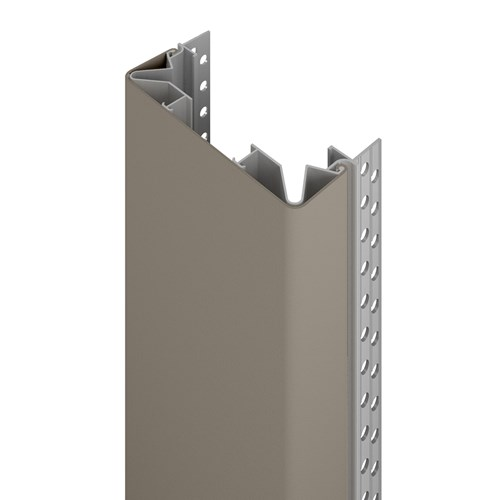 140D flush mount end wall protector in shiprock gray