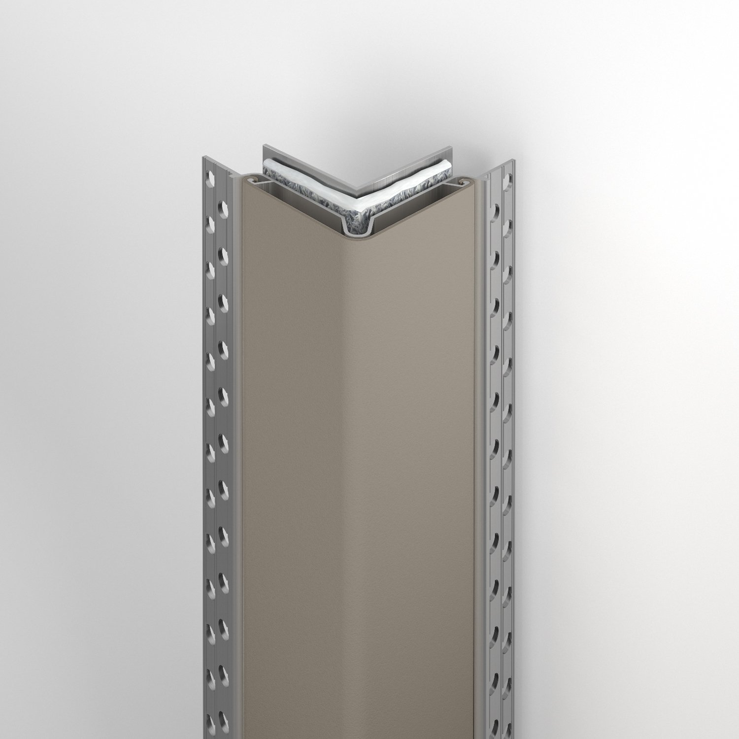 150FR fire rated corner guard in shiprock gray