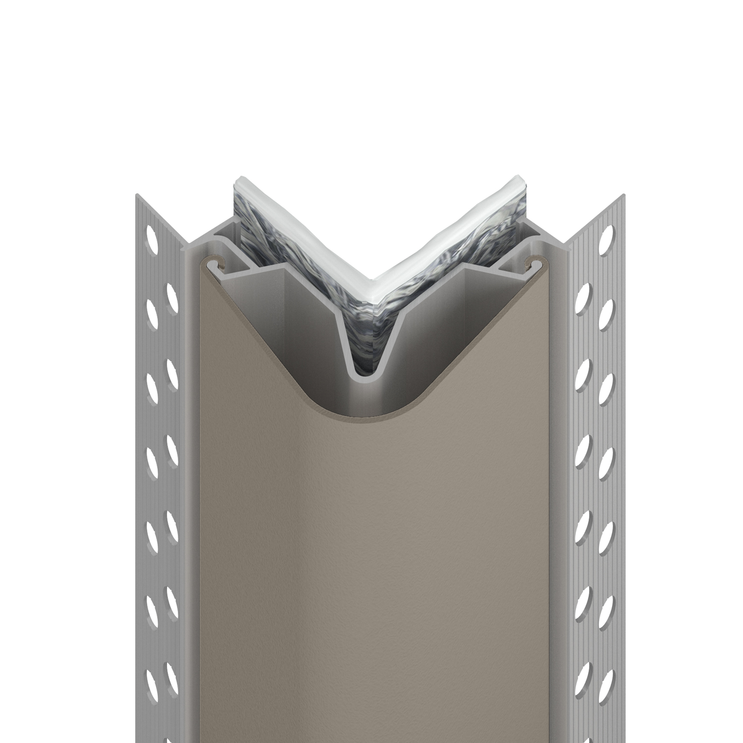 170FR fire rated corner guard in shiprock gray