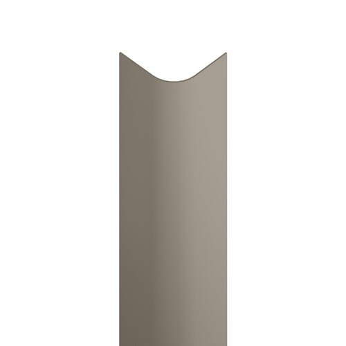 Bullnose corner guard with tape option in shiprock gray