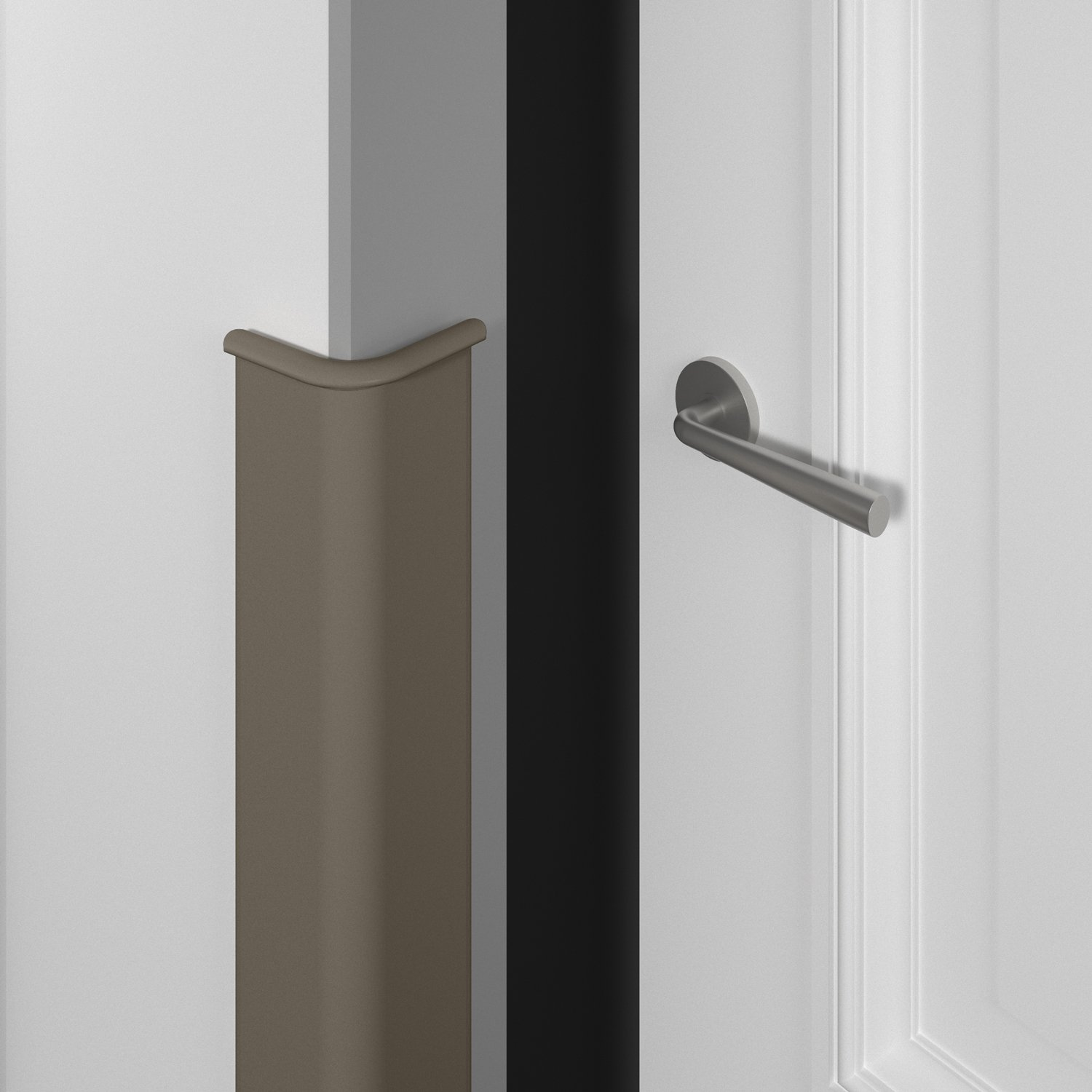 1700 door frame guard in shiprock gray