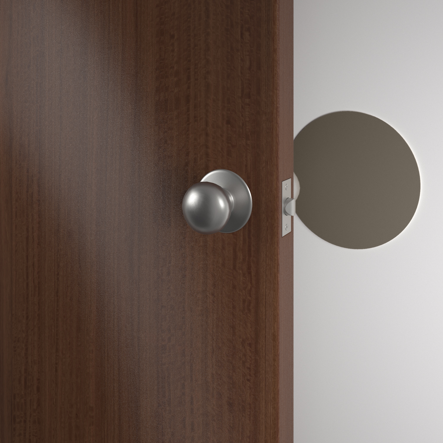 Round Palladium wall protector in shiprock gray