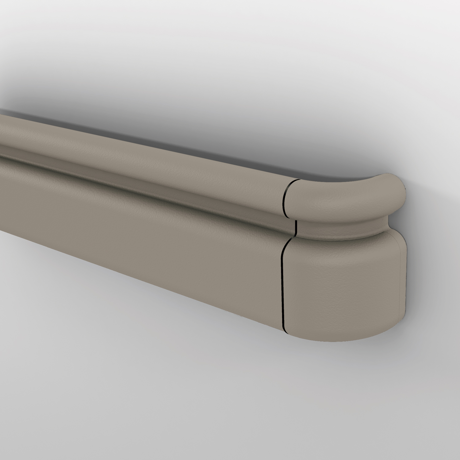 3100 handrail with round top rail in shiprock gray