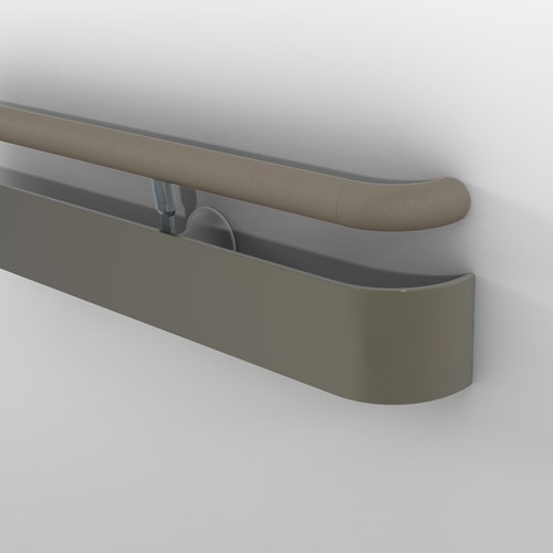 3510 handrail with round top rail in shiprock gray