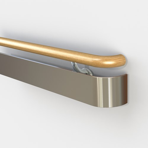 3520 handrail with wood top rail