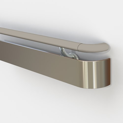 3530 handrail with pvc top rail and stainless steel bottom rail