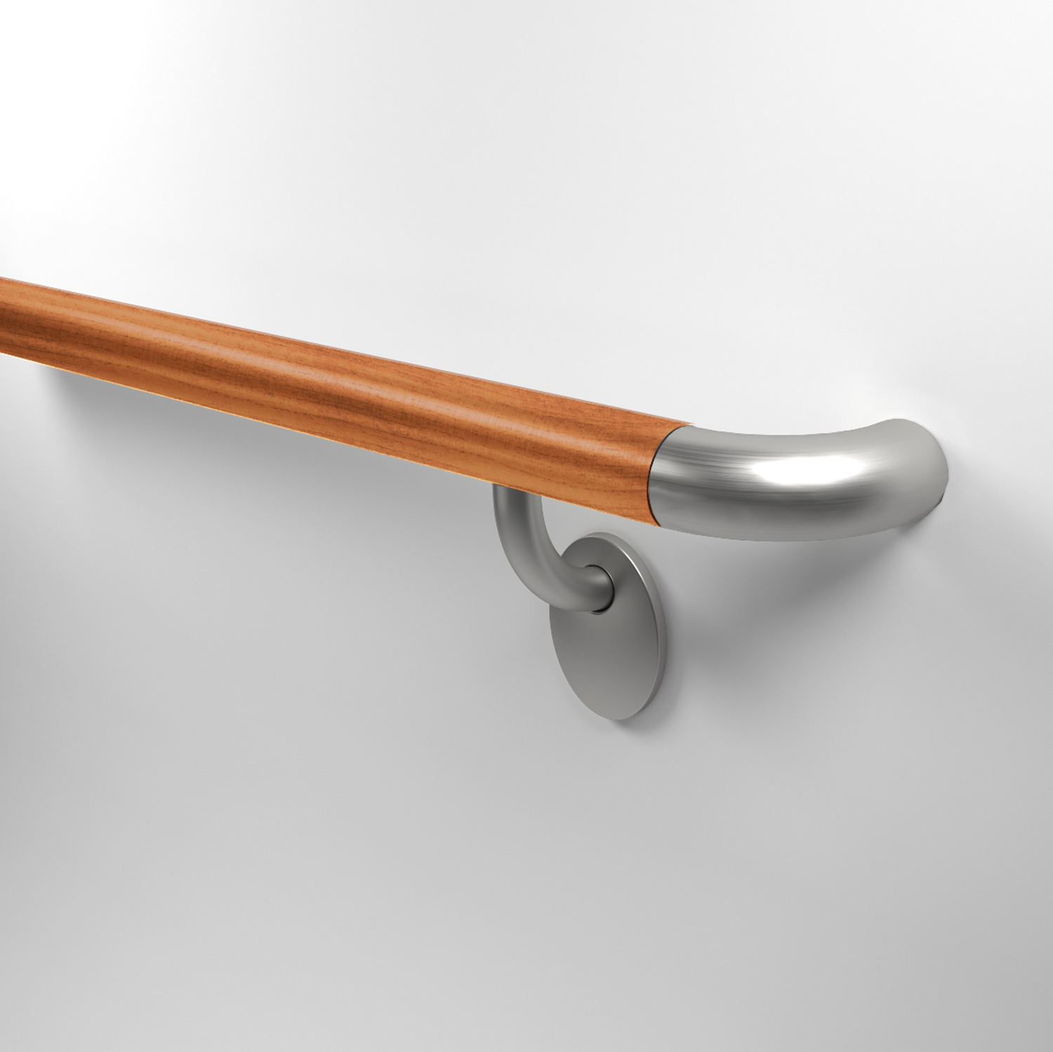 HR910 hardwood and stainless steel handrail