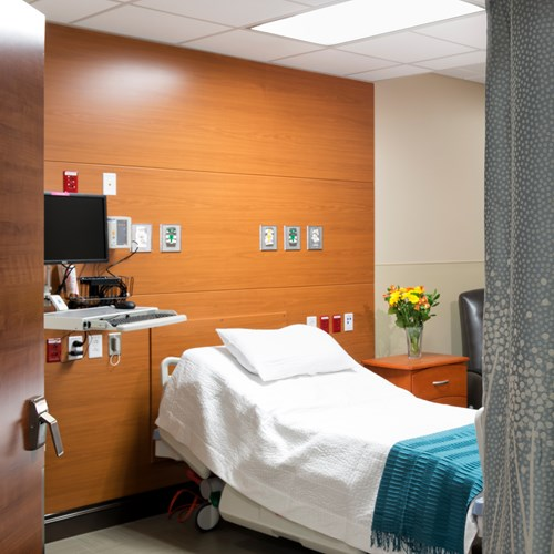 Headwall in a patient room