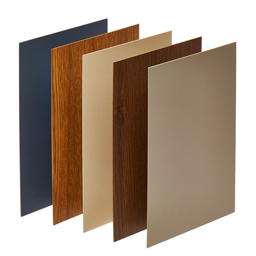 Rigid vinyl sheet color and finish options