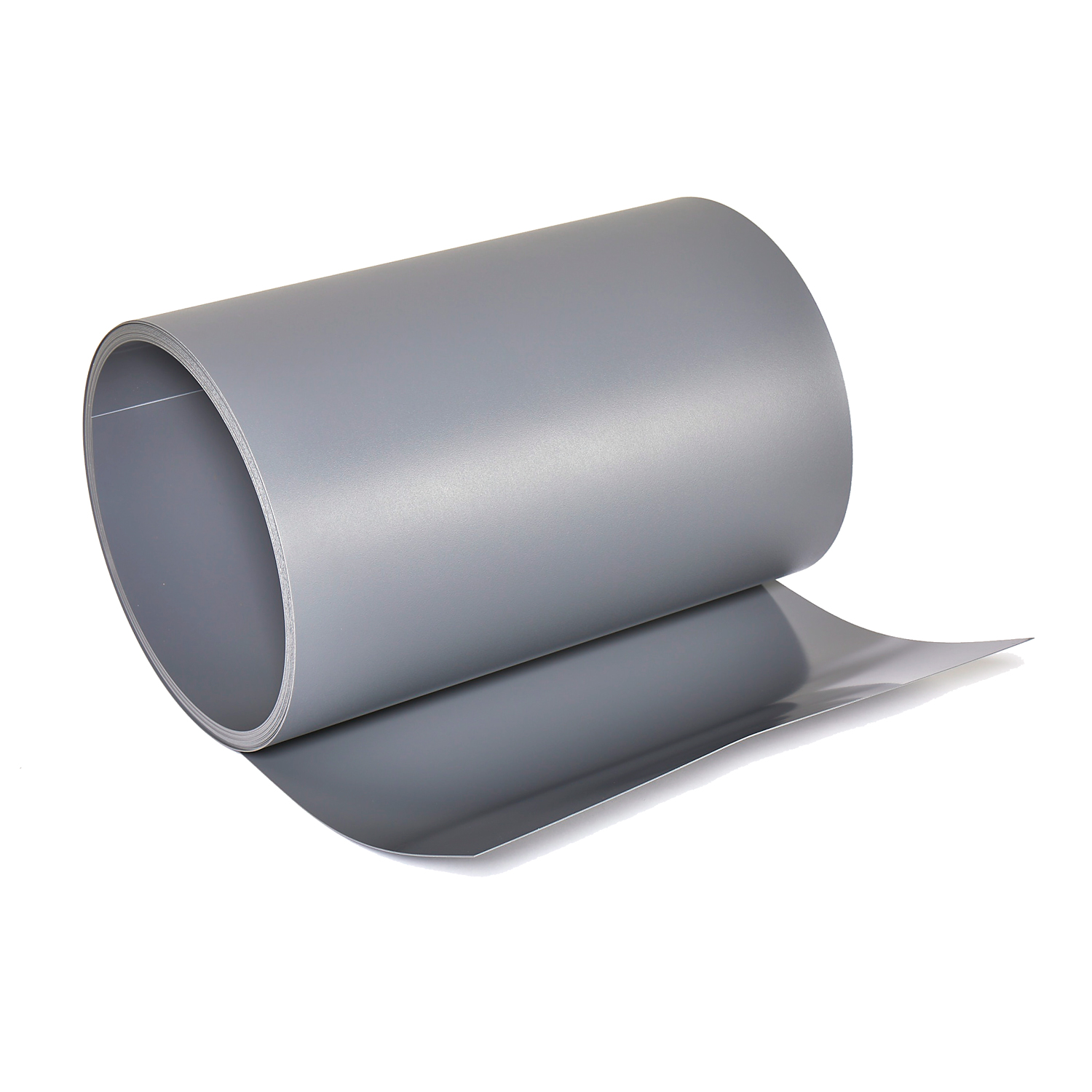 Rolled rigid vinyl sheet in grey