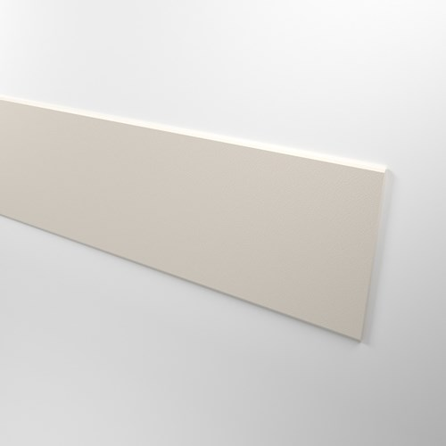 White rigid vinyl rubrail