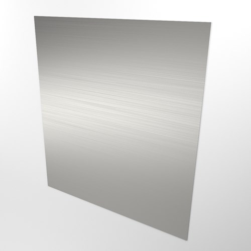 Single stainless steel wall panel view