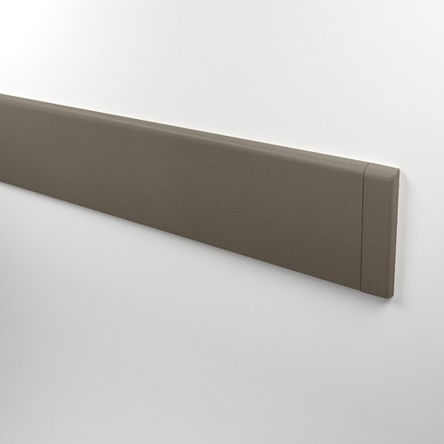 High impact rigid vinyl wall base in shiprock gray