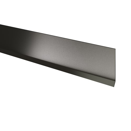 Stainless steel wall base with toe