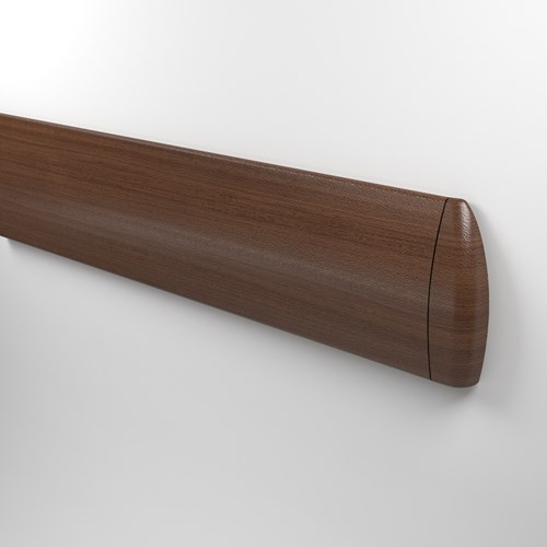 1500 rigid vinyl wall guard in Woodland Faux Wood finish