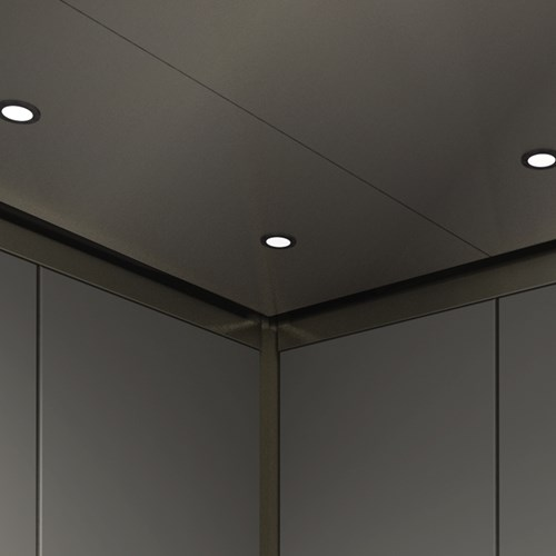 Stainless steel elevator cab ceiling