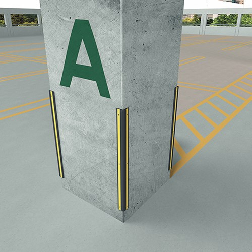 Corner Guard application in a Parking Garage