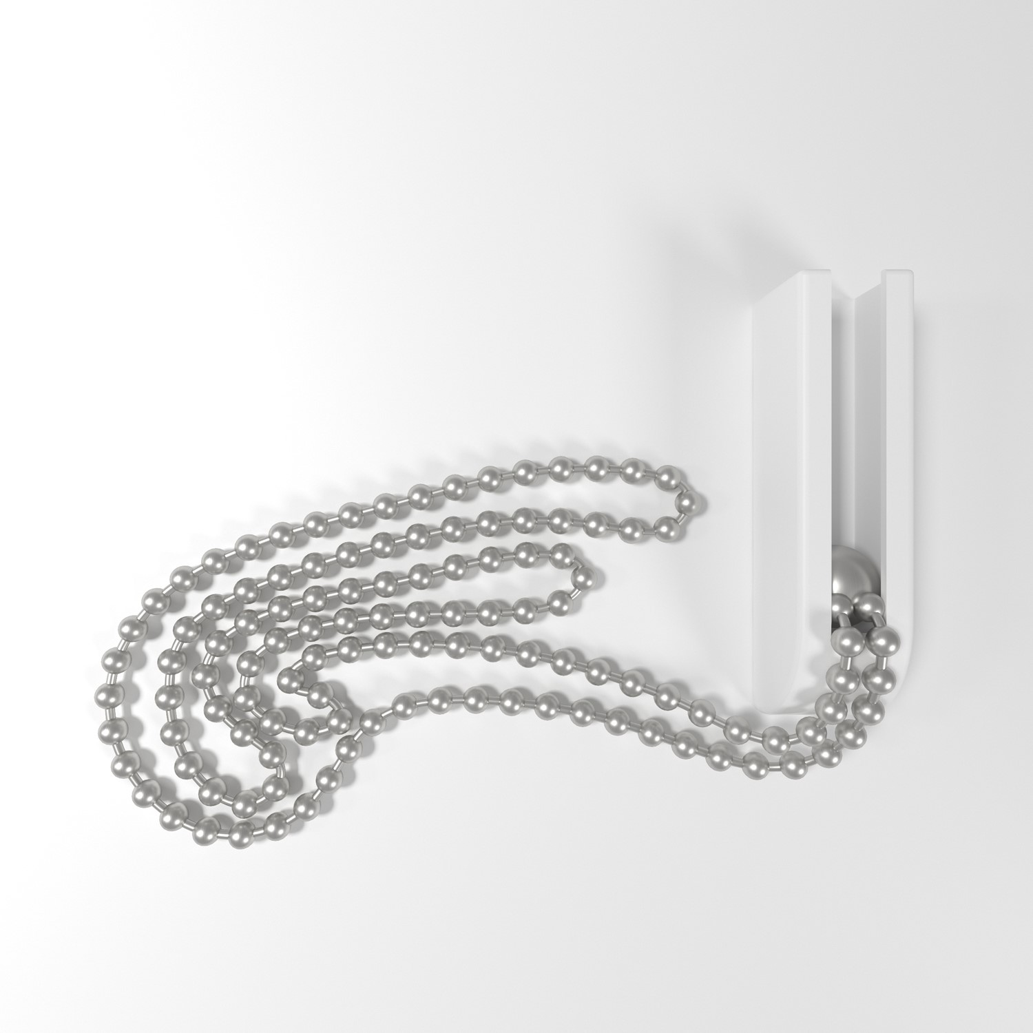 Cubicle curtain beaded nickel plated chain