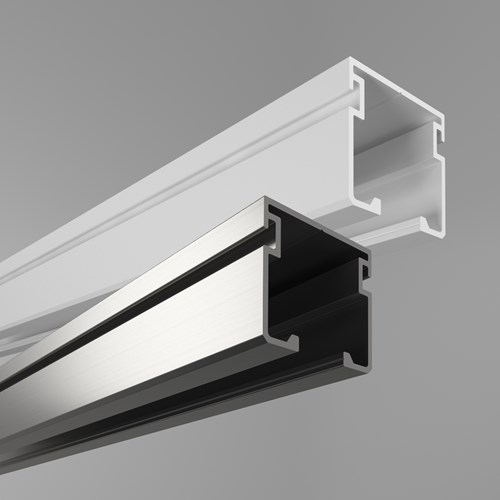 Ultra Cube cubicle curtain track by Inpro in white and anodized finishes