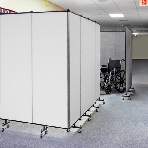 Single end frame for EZE-Space portable room divider