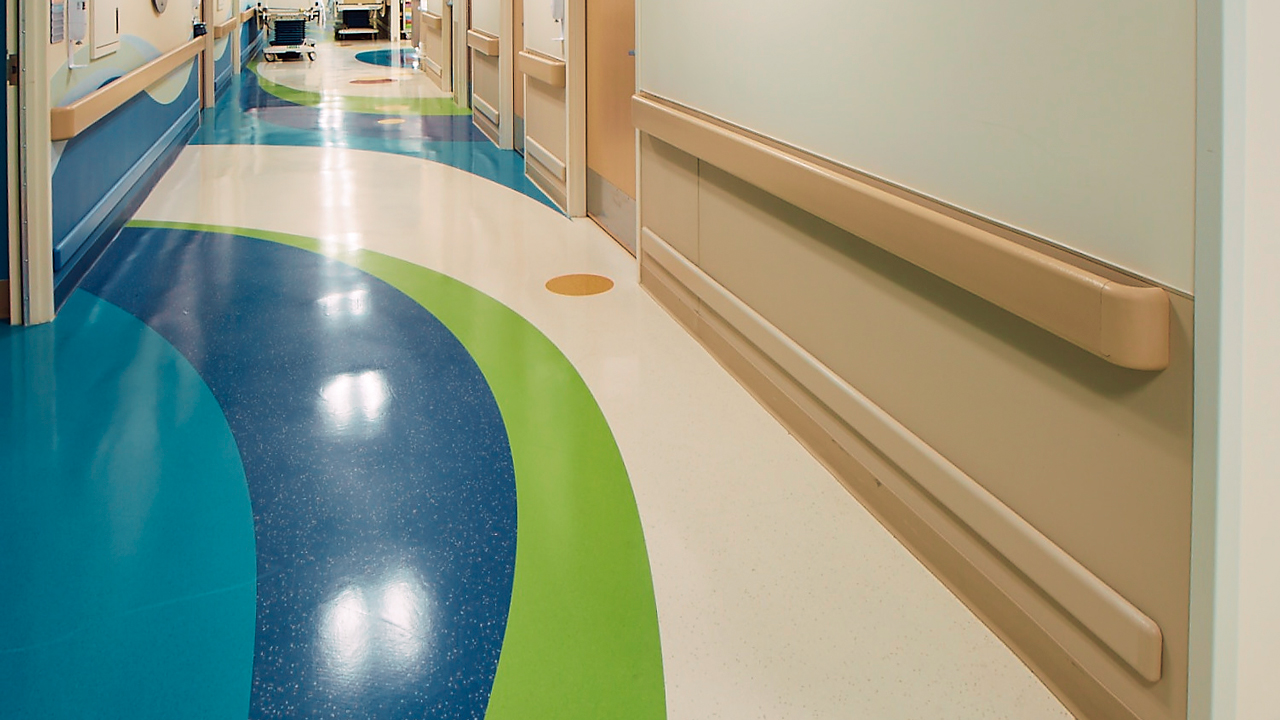 Door and wall protection in a hospital setting